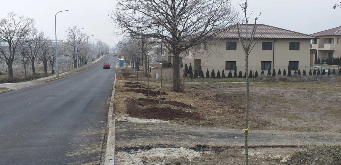 Városi zöldterület fejlesztések 2018